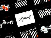 Off White -> Header Variants design dark white typography layout webdesign website flat ux interface ui