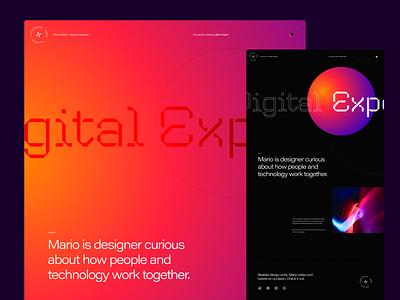 Port Exploration web webdesign design typography layout flat interface ux ui