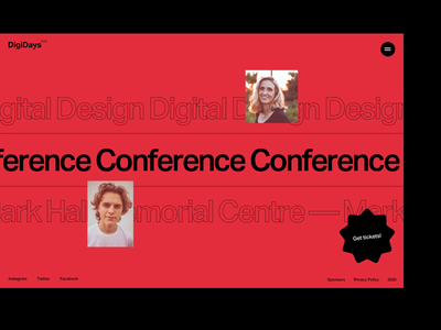DigiDays Conference web design website design showcase typography layout interface ux ui