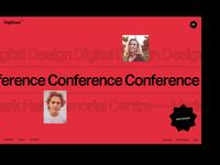 DigiDays Conference web design website design showcase typography layout interface ux ui