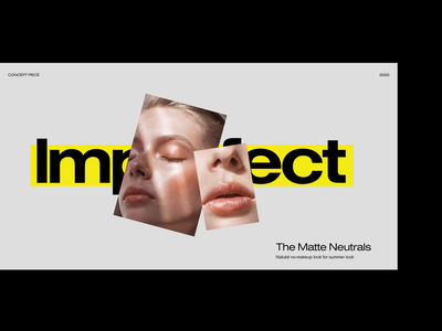 Makeup Editorial Concept website design web design layout typography flat interface ux ui