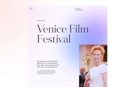 Venice Film Festival — Art Direction website design website light layout typography flat interface ux ui