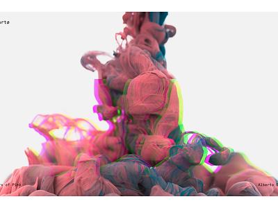 Chroma Glitch Concept interaction white principle animation color smoke glitch light interface app ux ui