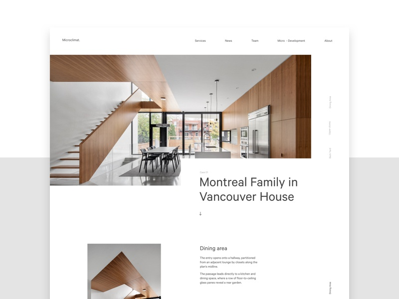 Architecture firm website by mario imi dribbble for Best architecture firm websites