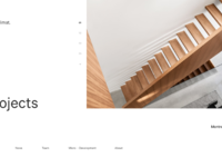Architecture firm homepage