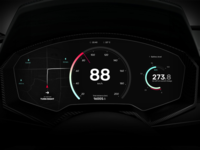 Electric Car Dashboard—UI Weekly Challenges S02 [4/10]