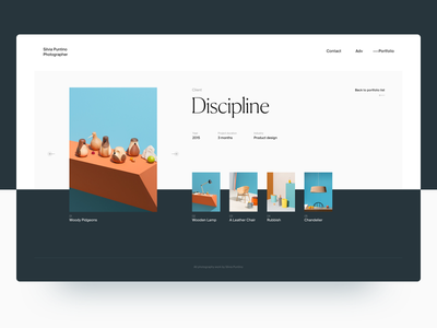 Photography Presentation Concept gray flat showcase concept ux ui clean color photography interface white