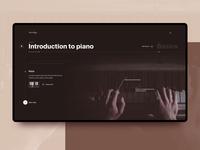 Piano Lessons Concept