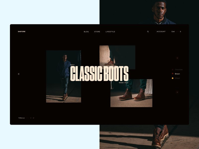 Shoe Store Lifestyle Page