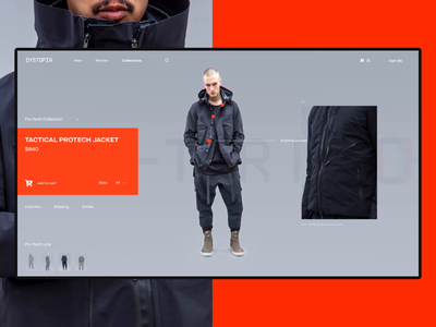 Dystopian Clothing Animation dystopian after affects principle animation concept layout flat interface ux ui