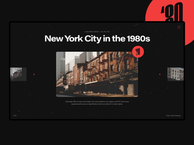 Photo Archive Art Direction red grotesk janet delaney art direction photography dark typography layout concept interface ux ui