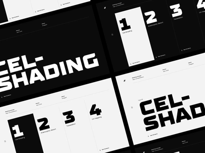 Tech Art Direction webdesign showcase tech black white flat layout typography concept interface ux ui