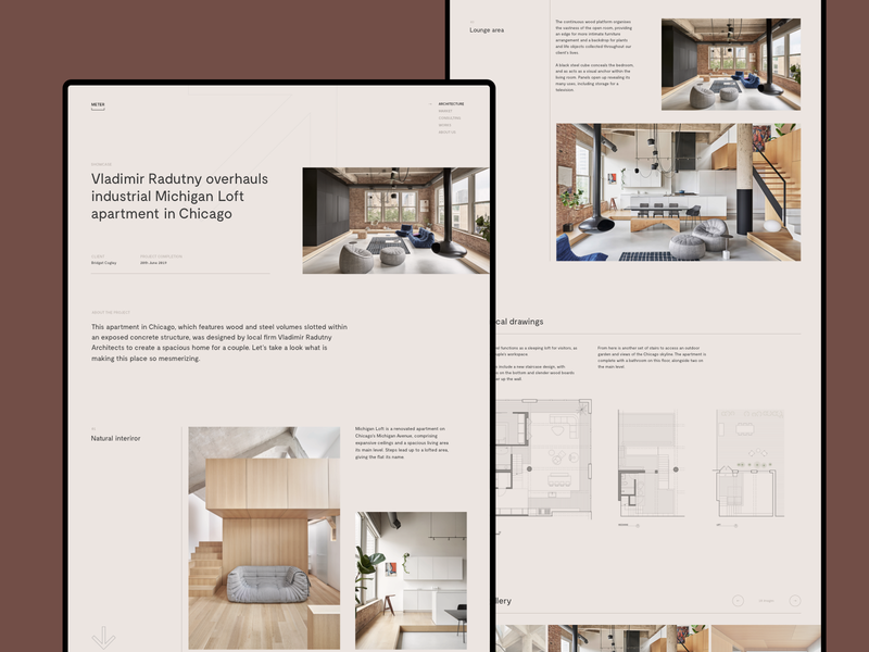 Apartment Showcase Page