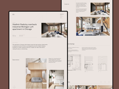 Apartment Showcase Page web website page art direction architecture design showcase typography layout concept interface ux ui