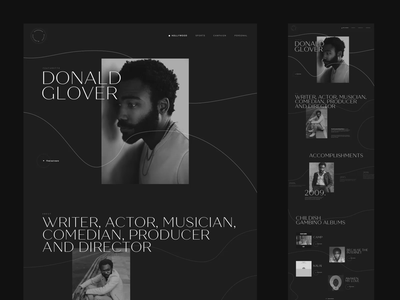 Music Artist Bio photography web design webdesign design dark typography layout interface ux ui