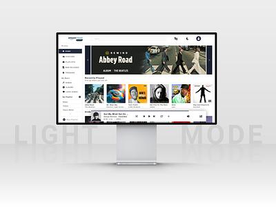 Amazon Music | Desktop Redesign (Light Mode) beatles redesign uidesign music amazon music amazon minimal website web design illustration uiux ux ui