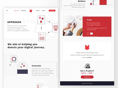 PlankFox | Full Concept desktop website design humor design mockup website web uiux illustration interface minimal dribbble ux ui