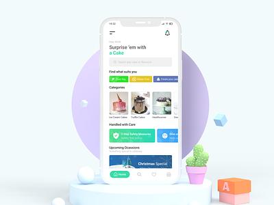 The Cake Shop | Mockup design interface dribbble mobile uxdesign uidesign illustration uiux mockup cake app cake minimal ux ui