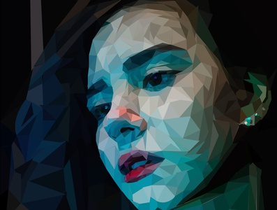 Play a waiting game... lowpoly lowpolyart caricature face picture girl illustration vector illustration portrait adobe illustrator