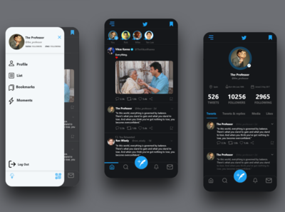 Twitter Redesign Challenge - Up Labs twitter challenge uplabs dailyui app web ux ui design
