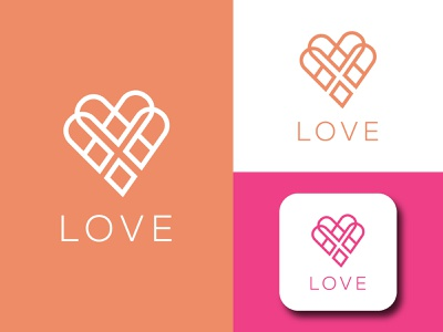 LOVE LOGO bikelogo minimal design illustration illustrator flatdesign logo lovelogo logodesign branding