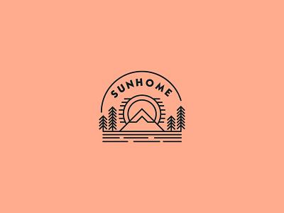 Sun Logo creative logo logoconcept illustrator flat minimal design branding logodesign sunset sunglasses sunhome sun sun logo
