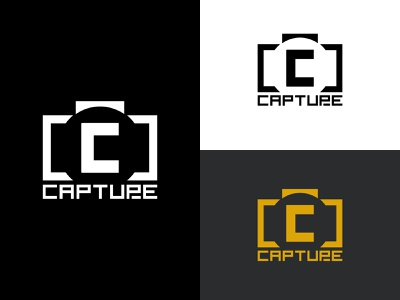 Capture Logo logoconcept illustrator creative logo illustration minimal logo design branding logodesign camera logo camera icon camera app