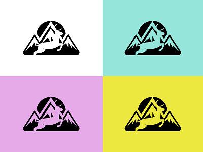 Deer + Mountain mountain mountain logo unique logo flat illustrator creative logo illustration logo minimal branding logodesign design deer logotype deer logo