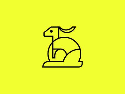 RABBIT LOGO letter minimalist logo flat logoconcept minimal branding logodesign creative logo animal logo animal rabbit rabbit logo