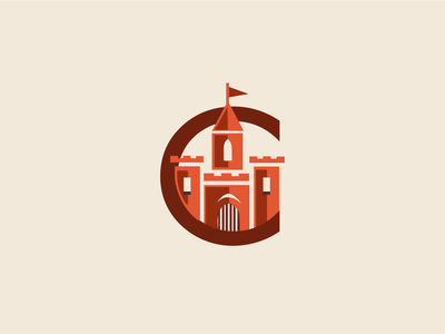 Logo La Castellana illustration logo print identity castle logo spanish castle logo design vector
