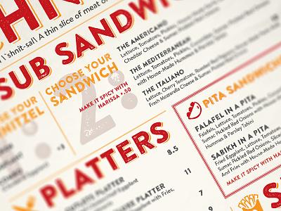Mordi's Schnitzel Truck Menus brochure restaurant poster menu food truck