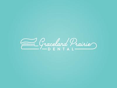 Graceland Prairie Dental illustrator branding logo script dentist