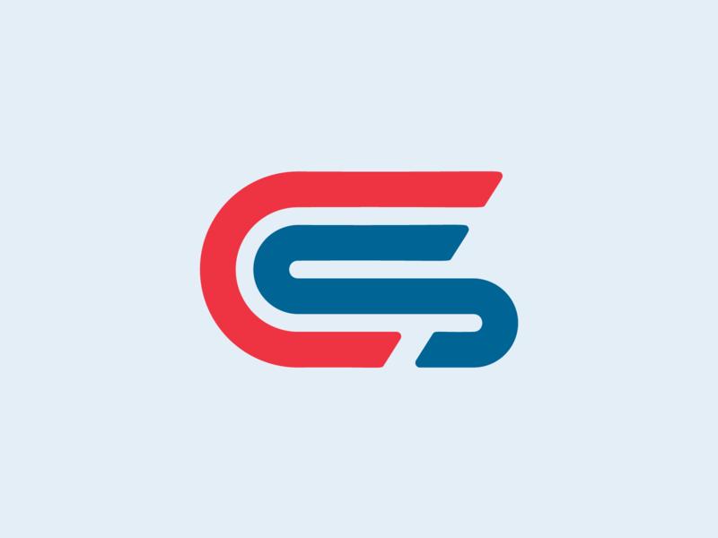 Cranson Solutions Mark lockup typography vector illustration design branding logo lettermark