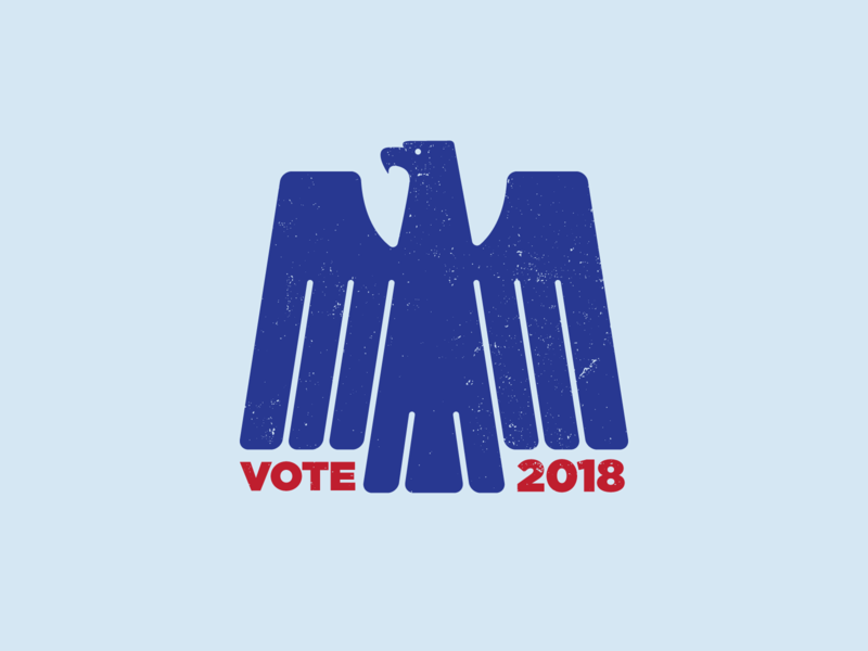 Voting Eagle politics logo vector illustrated eagle election day election vote
