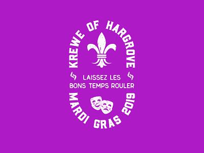 2019 Mardi Gras Badge mardi gras design typography logo badge