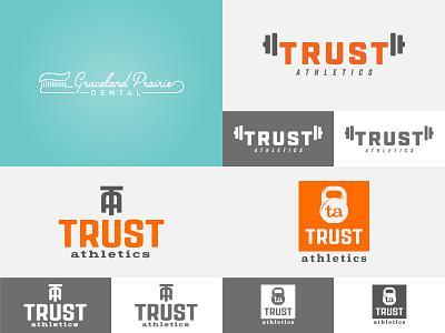 2018 Top 4 dental logo vector gym fitness identity crossfit typography illustration design branding logo lockup
