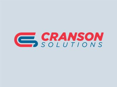 Cranson Solutions Logo typography design vector lockup branding logo