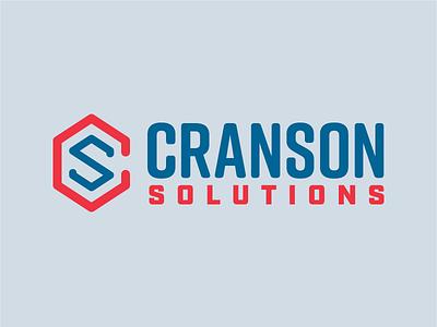 Cranson Solutions unused option vector typography lockup design branding logo