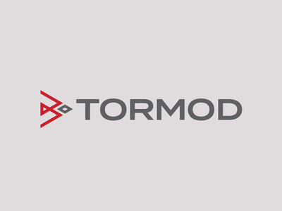 Tormod Logo Concept 1 typography vector lockup design industrial logo identity branding logo