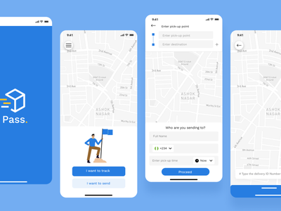Pass - Parcel Delivery App delivery branding app
