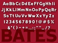 Bates Athletic Font