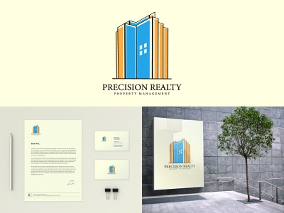 Modern Property Logo branding minimal logo presentation design brand identity corporate branding construction buliding property logo crative logo real estate real estate logo custom logo branding logo mark logo design illustration mordern logo minimalist logo logo