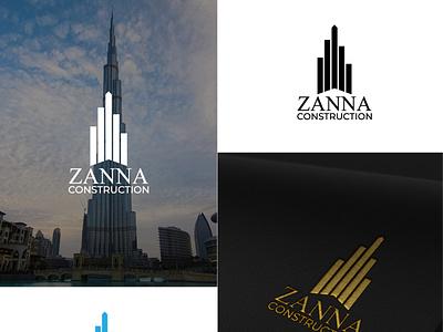 Construction Company Logo minimalist logo typography logos logotype logo design branding design illustrator design brand identity minimal vector branding logo