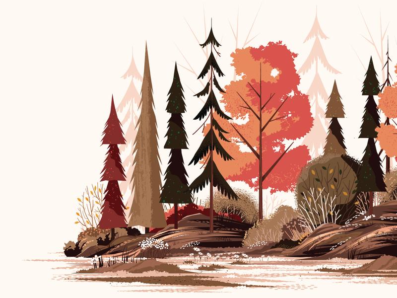 Foliage Print illustrator texture silhouette print leaves grass plant bush outside pine landscape flower outdoors tree nature
