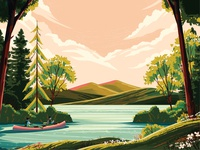Boston Globe Magazine - New England Lakes leaves person water tent hill clouds dog family canoe beach swim sunset print editorial outside landscape flower outdoors tree nature