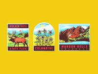 Vintage Colorado Travel Stickers