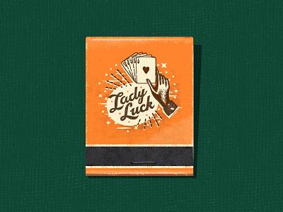 Lady Luck Matchbook matches poker casino cards matchbox matchbook vintage