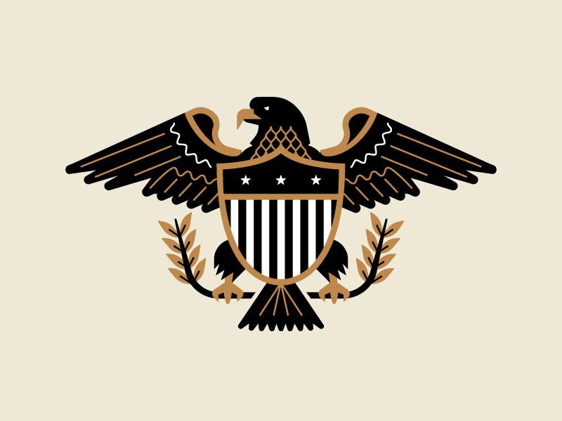 Eagle Crest flag wings badge crest eagle