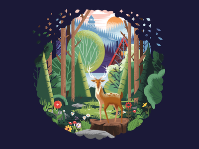 Wilderness trail flowers mountains lookout tower a-frame cabin outdoors forest wild trees elk deer nature