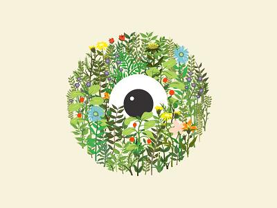 Eye of Spring organic nature leaf plants plant leaves eyeball floral flowers flower